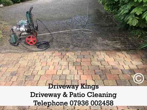 clean driveway stock