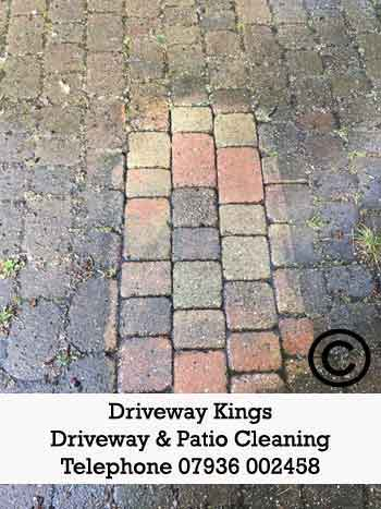 driveway cleaning stock